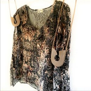 Show Me Your MuMu Velvet Print Tunic Top